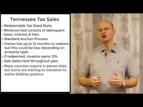 Tennessee Tax Sales - Redeemable Tax Deeds