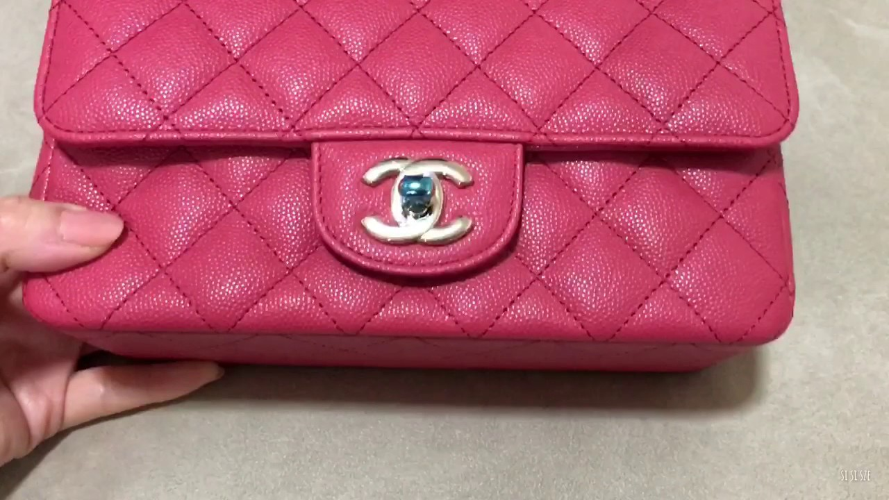 695b10cb534b CHANEL Mini Flap in Dark Pink Unboxing - YouTube