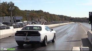 1000 hp hellcat destroys an axle more hellcat quarter mile throwdowns