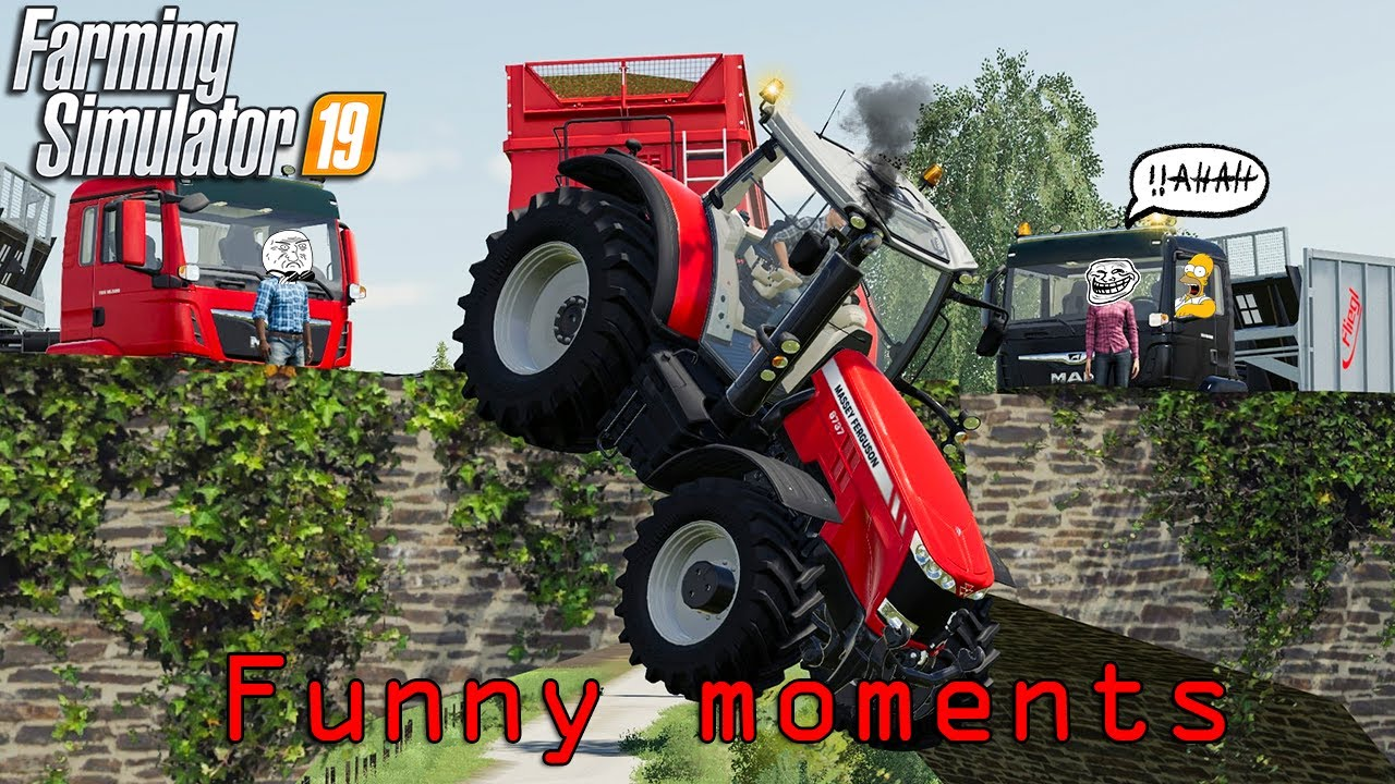 Funny Moments & Crash Compilation - Farming Simulator 19 Multiplayer #9