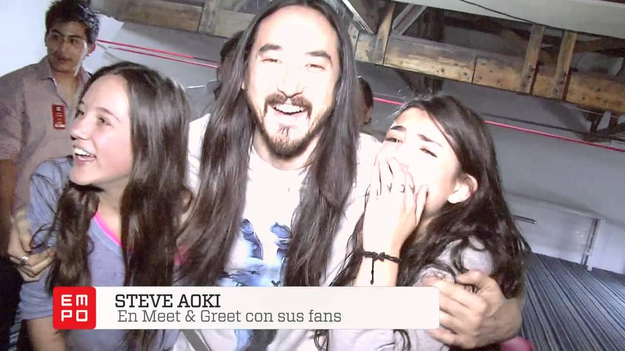 Meet Greet Steve Aoki Mxico Youtube