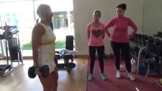 Фитнес с Еленой Санжаровской: инструктаж в тренажерном зале