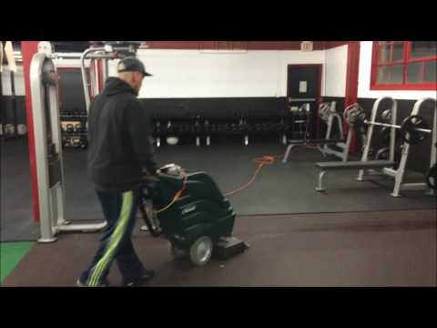 ufc gym rubber floor cleaning