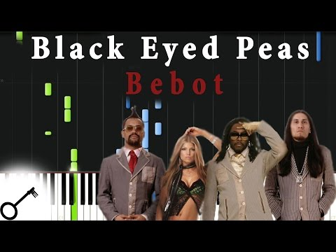 Black Eyed Peas  Bebot Piano Tutorial Synthesia  passkeypiano