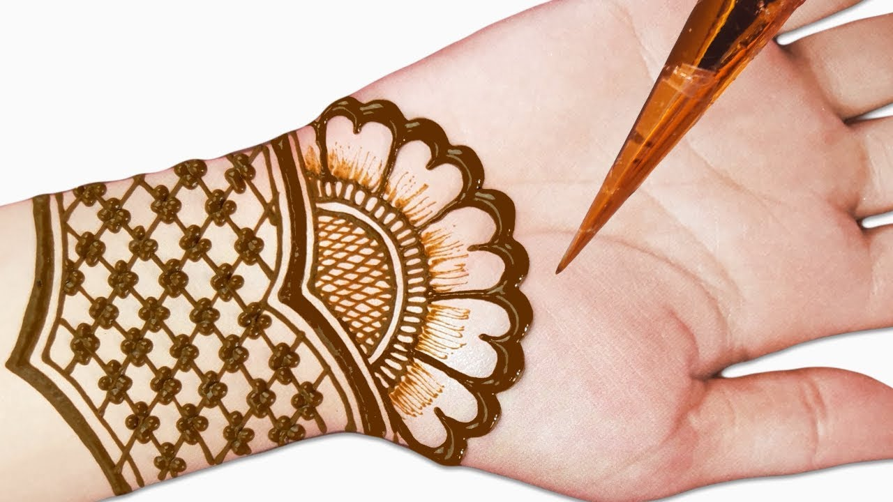 Easy mehndi design for front hands , Beautiful and simple mehndi design 2019