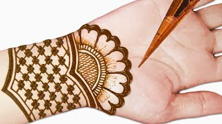 Easy mehndi design for front hands - Beautiful and simple mehndi design 2019