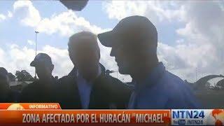 Trump visita zona de Florida afectada por huracán Michael