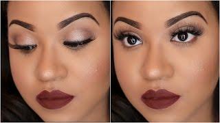 Everyday Fall Makeup with GLOWY Skin!   NitraaB