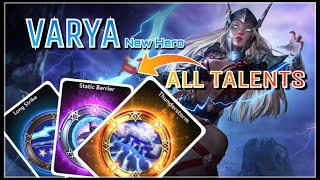 Vainglory New Hero Varya All Talents Gameplay! Rare, Epic, and Legendary Talents | Update 2.11
