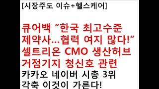 """[시장주도 이슈+헬스케어]큐어백 """"한국 최고수준 제약사…"""