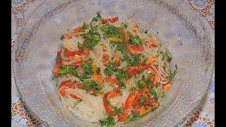 Теплый салат ФУНЧОЗА! Очень вкусно и просто!