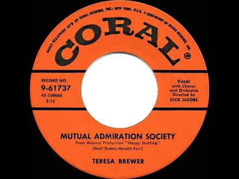 1956 HITS ARCHIVE: Mutual Admiration Society - Teresa Brewer
