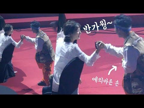 레드벨벳 슬기와 반갑게 인사하는 김하온 Red Velvet Seulgi meet Haon : 요즘애들 : Edited Fancam : 잠실 190123