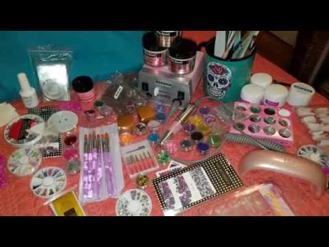 Nail Supplies for Beginners - EBay Haul - Mia Cover Pink - Mia Secret Acrylic Review ❤