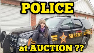 POLICE AT AUCTION I Bought Abandoned Storage Unit Locker Opening Mystery Boxes Storage Wars Auction