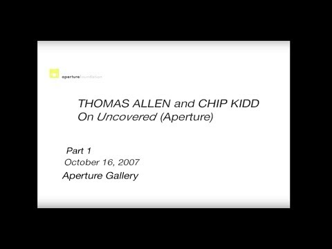 Thomas Allen and Chip Kidd on Uncovered