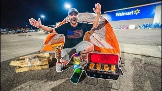 Camping OVERNIGHT in Walmart Parking Lot!!! (SKETCHY)