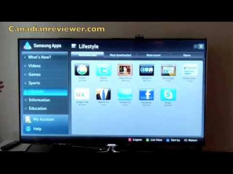 samsung smart tv demo 2011 youtube. Black Bedroom Furniture Sets. Home Design Ideas
