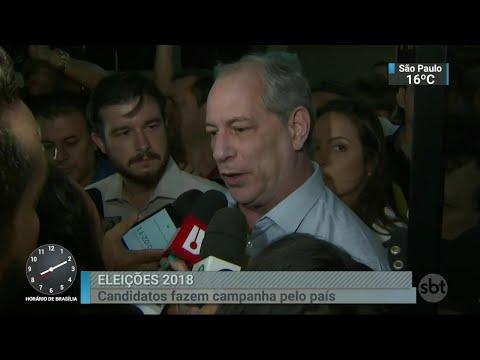 Ciro Gomes condena ataque sofrido por Jair Bolsonaro   SBT Brasil (08/09/18)