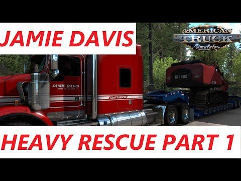 American Truck Simulator Jamie Davis transporting an Excavator to Vancouver (BC) Part 1 |