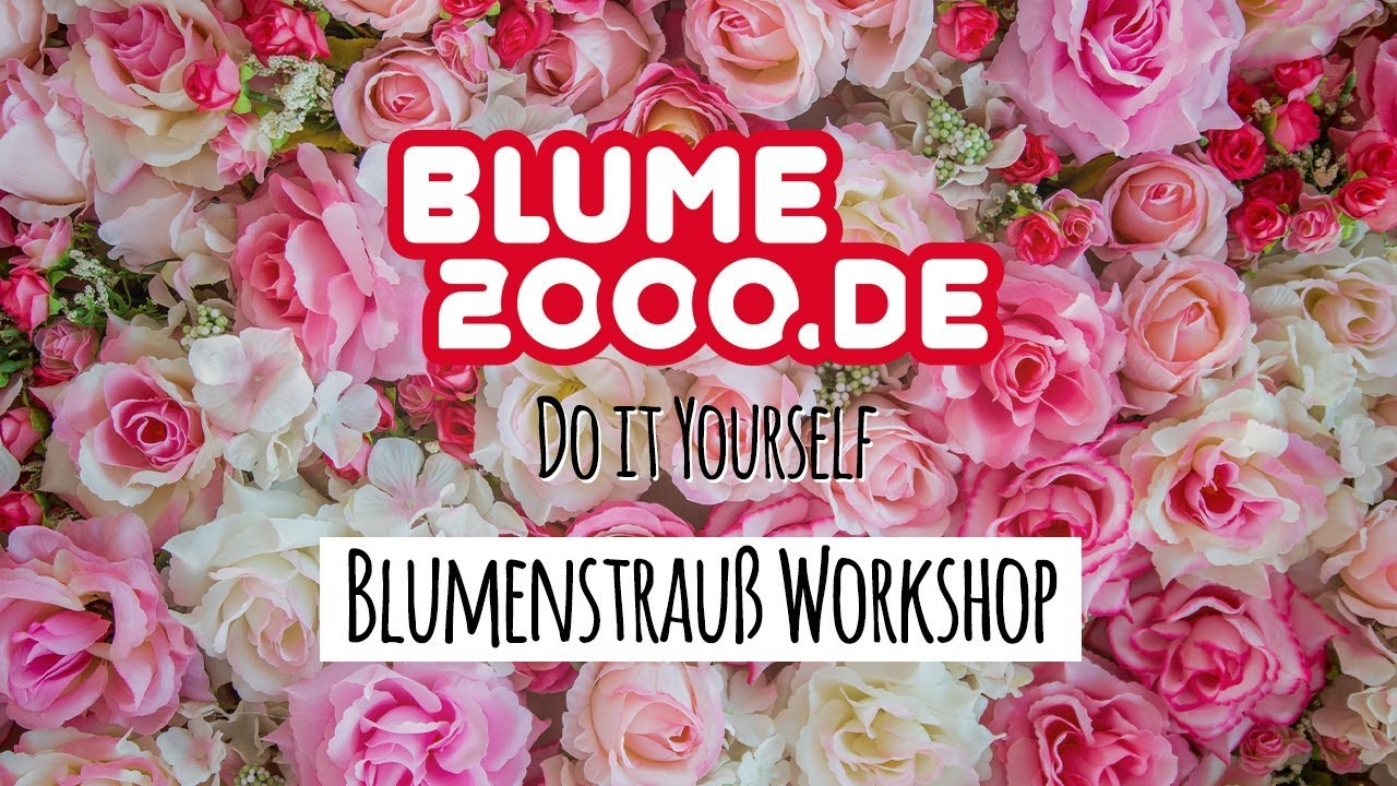 blogger workshop blumenstrau binden youtube. Black Bedroom Furniture Sets. Home Design Ideas