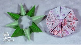 Подвижное оригами: Волшебный круг который превращается в звезду