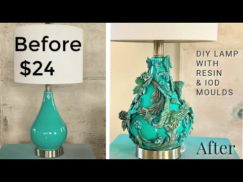 DIY Butterfly Lamp with resin & IOD moulds