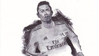 Cristiano Ronaldo speed drawing   Ronaldo drawing   Cr7 drawing