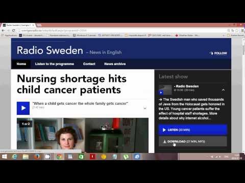 Listen to Radio Sweden english on the Internet