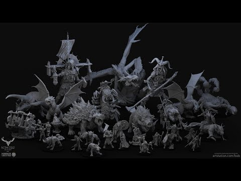 Sneak Peek: Sculpting Miniatures For Production with Bob Plociennik