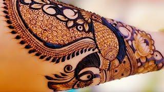 Step by Step Bridal Henna Mehndi Design  Latest Mehndi Design   New Peacock Mehndi Design for Hands