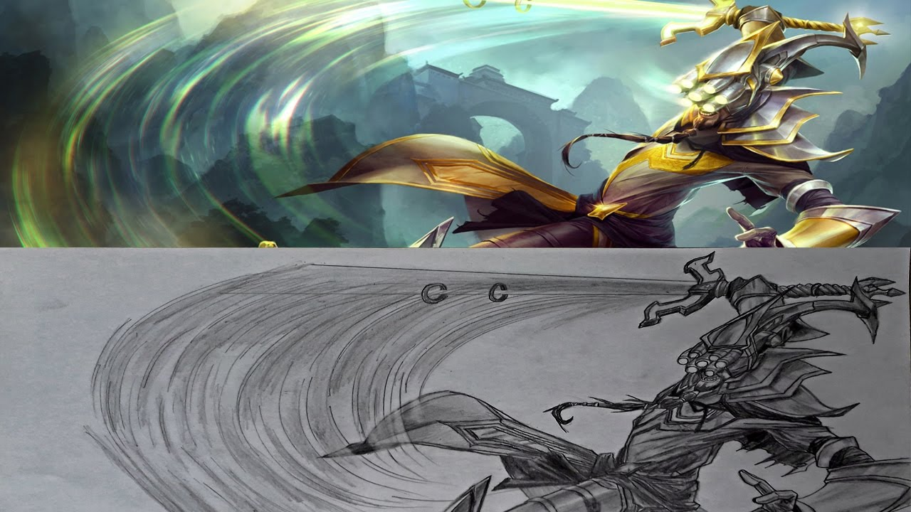 Pencil drawing master yi league of legends