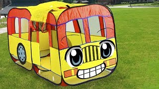 Fidget Ed Plays with Bus The Wheels on the Bus Nursery Rhymes Kids Songs for Children