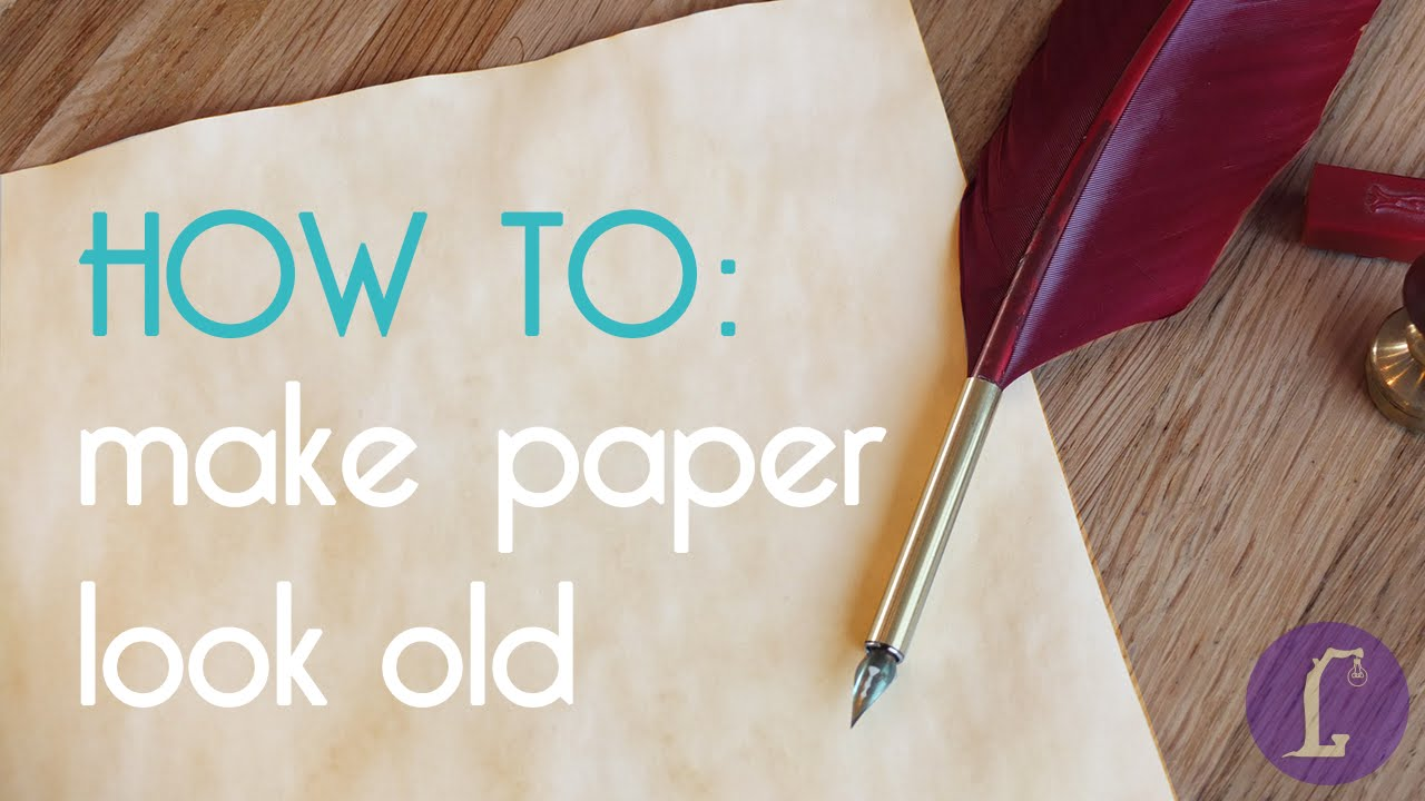 How To Make A Book Cover Look Old And Worn ~ How to make paper look old diy aging paper youtube