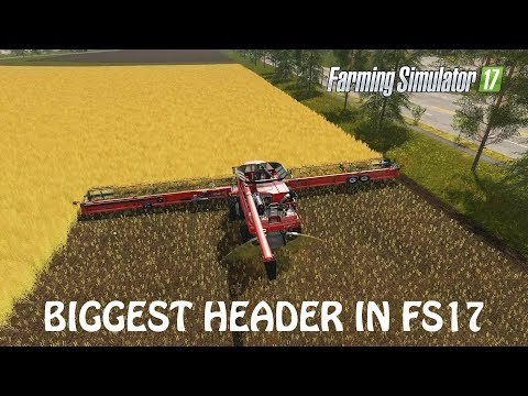 BIGGEST HEADER MOD in Farming Simulator 2017 | 30 METERS WIDE | REALLY | PC | PS4 | Xbox One