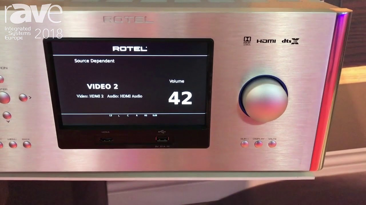 ISE 2018: Rotel Electronics Highlights RAP-1580 Integrated Surround Sound  Amplified Processor