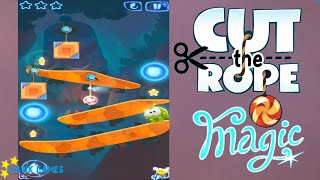 Cut the Rope Magic - Daily Challenges June, 29 2016 (3 stars, 0 stars, remove 2 ropes at most)