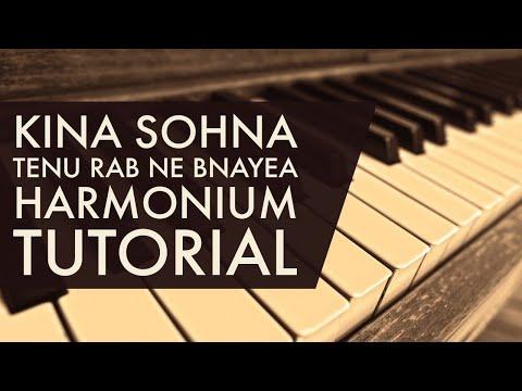 Kinna Sohna Tenu Rabb Ne Banayea Play On Harmonium { Harmonium Tutorial}