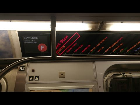 """MTA NYCT Subway On-Board:Jamaica 179 St bound F """"Semi Express""""(Kings Highway-Jay St Metrotech)"""