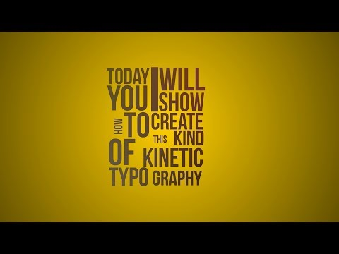 Kinetic Typography In After Effects   Tutorial