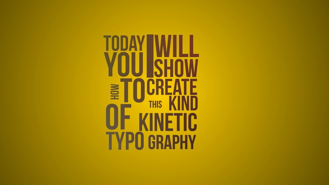 Kinetic Typography In After Effects Tutorial Youtube