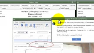 Year End Closing With QuickBooks