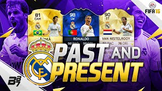 PAST AND PRESENT REAL MADRID SQUAD BUILDER! | FIFA 16