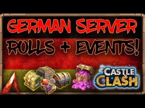 Castle Clash German Server! Talent Rolls + Events!