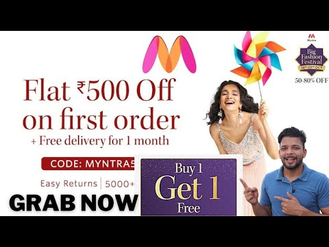 Myntra Big fashion festival sale | Flat 500 OFF & Buy 1 and Get 1 free in Myntra sale 2020