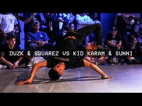 Duzk & Squarez vs Kid Karam & Sunni / PRELIM / World Bboy Classic 2018