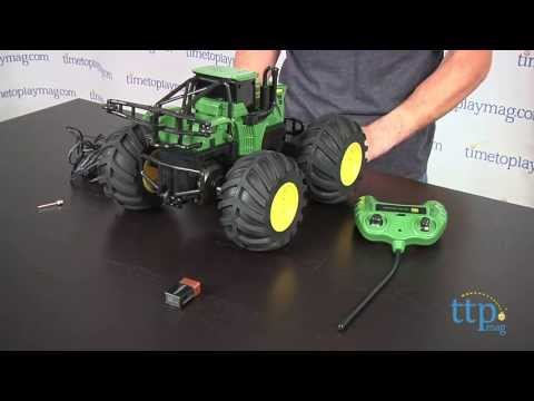 john deere monster treads r c tractor from tomy ertl youtube. Black Bedroom Furniture Sets. Home Design Ideas