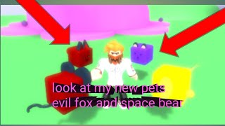 Roblox cookie simulator part 15:look at my new pets evil fox and space bear