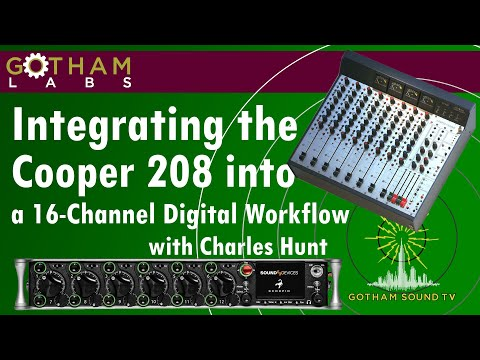Gotham Labs: Integrating The Cooper 208 Into A 16-Channel Digital Workflow