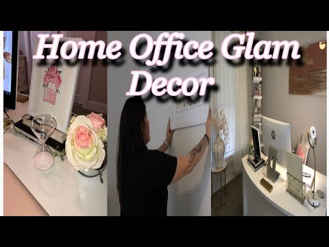 Home Office | Glam Decor | Decorate W/ Me